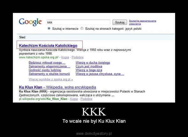 KKK – To wcale nie byl Ku Klux Klan