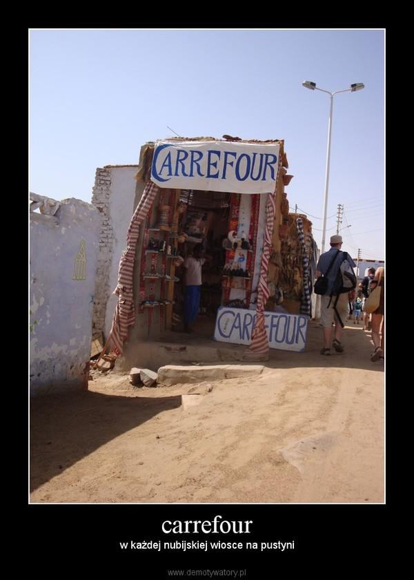 carrefour – w każdej nubijskiej wiosce na pustyni