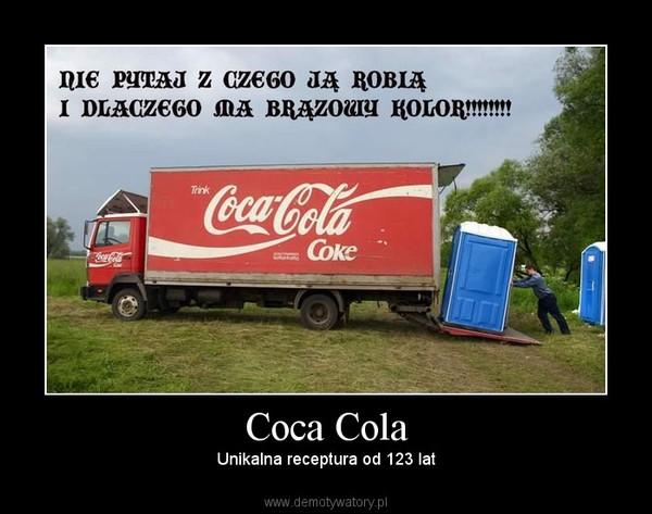 Coca Cola – Unikalna receptura od 123 lat