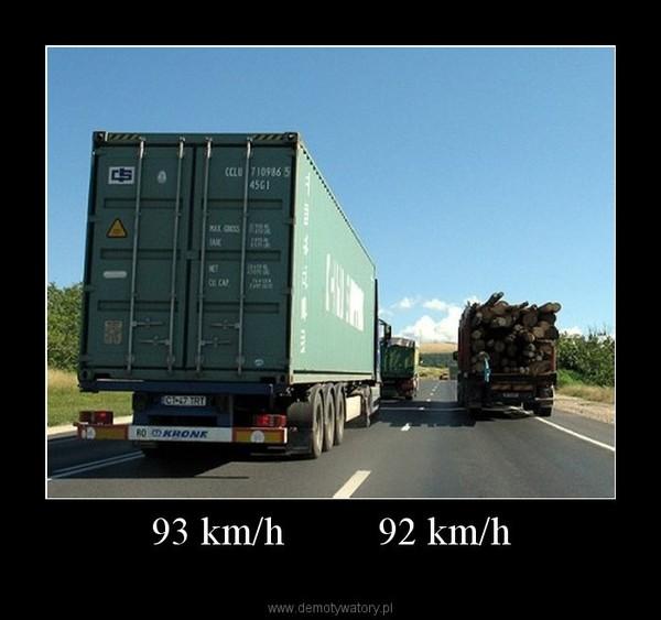 93 km/h         92 km/h –