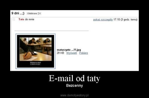 E-mail od taty – Bezcenny