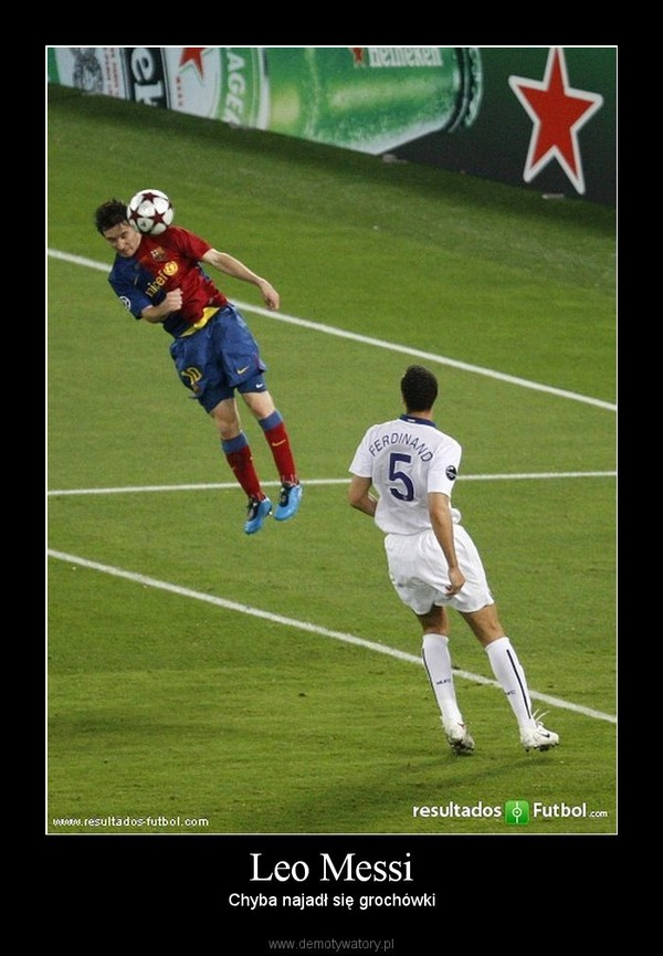 Leo Messi – Chyba najadł się grochówki
