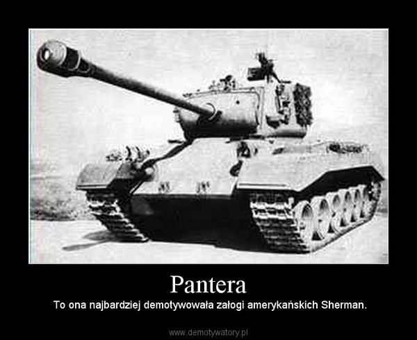 Pantera –  To ona najbardziej demotywowała załogi amerykańskich Sherman.