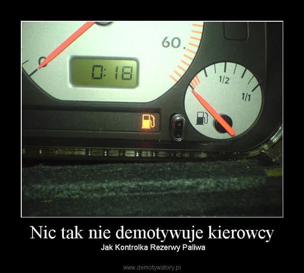 Nic tak nie demotywuje kierowcy – Jak Kontrolka Rezerwy Paliwa