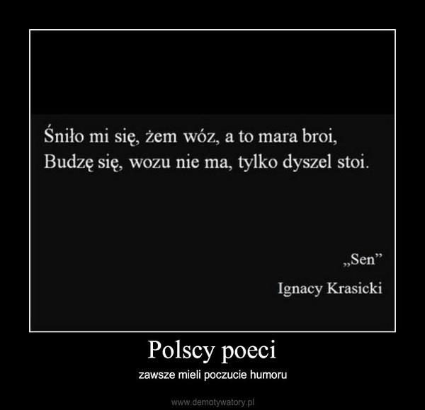 Polscy poeci – zawsze mieli poczucie humoru