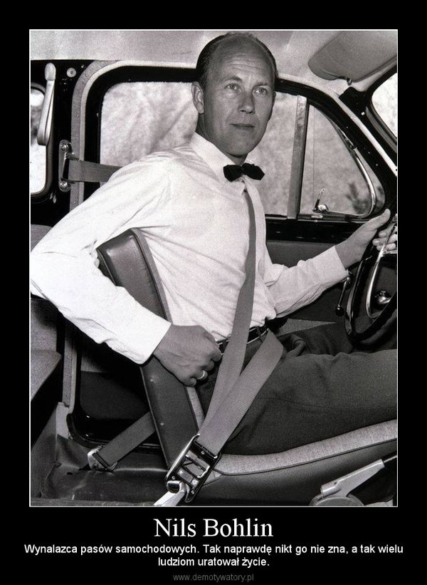 Nils Bohlin – Wynalazca pasów samochodowych. Tak naprawdę nikt go nie zna, a tak wieluludziom uratował życie.