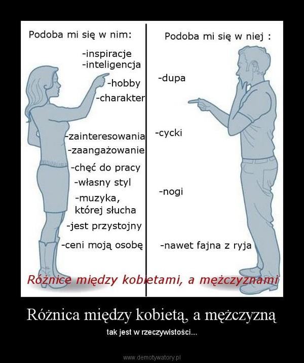 b6777263bae670 Różnica między kobietą, a mężczyzną – Demotywatory.pl