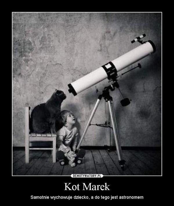 Kot Marek – Samotnie wychowuje dziecko, a do tego jest astronomem