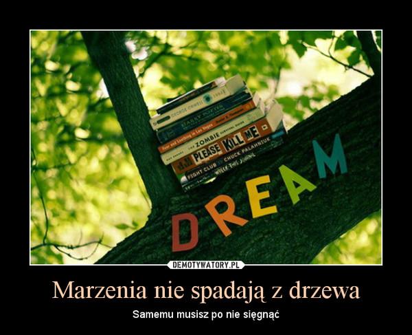 Marzenia nie spadają z drzewa – Samemu musisz po nie sięgnąć