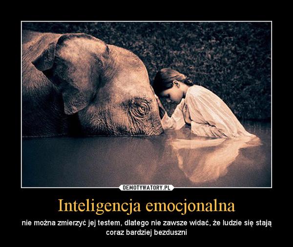 Inteligencja emocjonalna – nie można zmierzyć jej testem, dlatego nie zawsze widać, że ludzie się stają coraz bardziej bezduszni