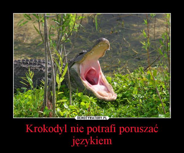 Krokodyl nie potrafi poruszać językiem –