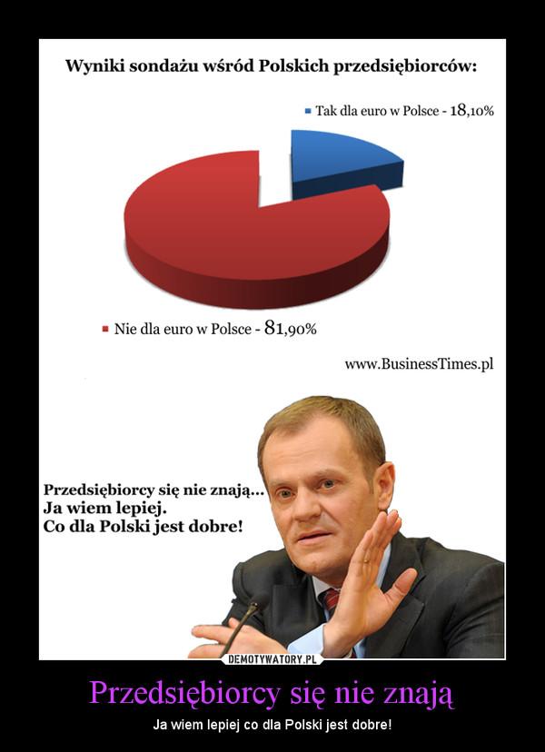 Przedsiębiorcy się nie znają – Ja wiem lepiej co dla Polski jest dobre!