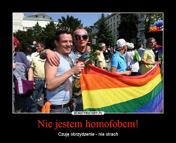 Nie jestem homofobem! – Czuję obrzydzenie - nie strach