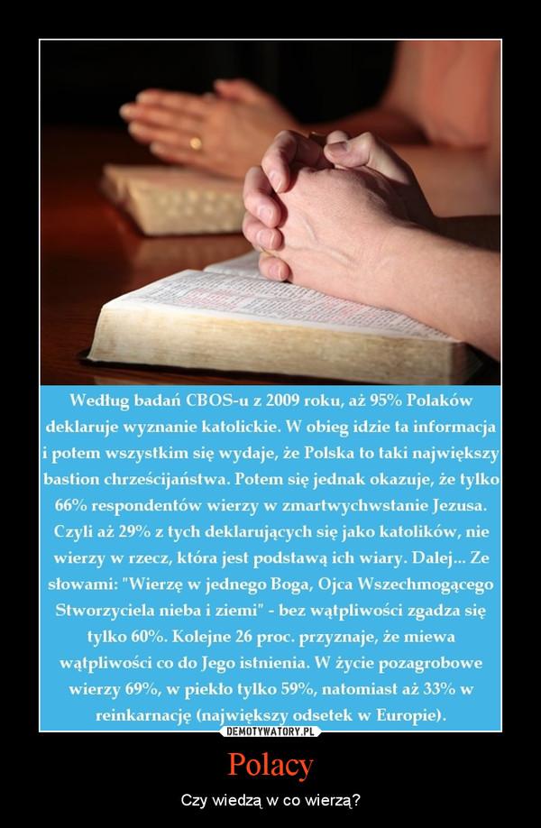 Polacy – Czy wiedzą w co wierzą?