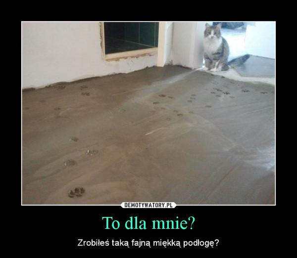 To dla mnie? – Zrobiłeś taką fajną miękką podłogę?