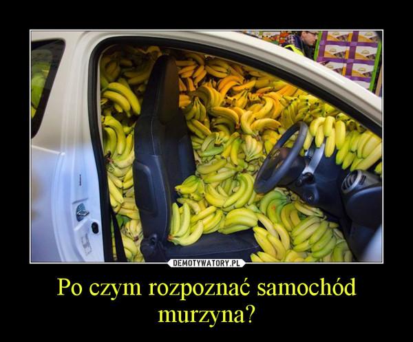 Po czym rozpoznać samochód murzyna? –