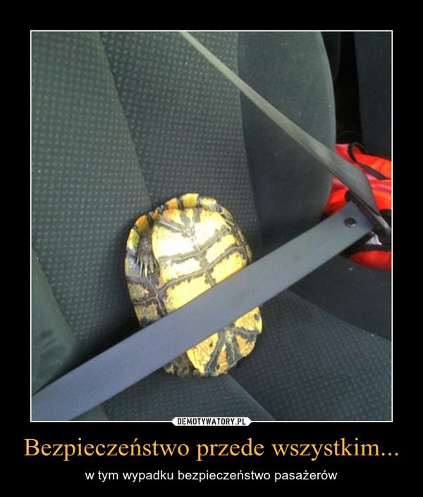 Bezpieczeństwo przede wszystkim... – w tym wypadku bezpieczeństwo pasażerów