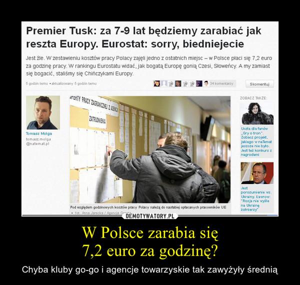 W Polsce zarabia się7,2 euro za godzinę? – Chyba kluby go-go i agencje towarzyskie tak zawyżyły średnią