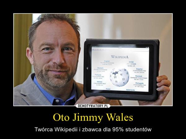 Oto Jimmy Wales – Twórca Wikipedii i zbawca dla 95% studentów