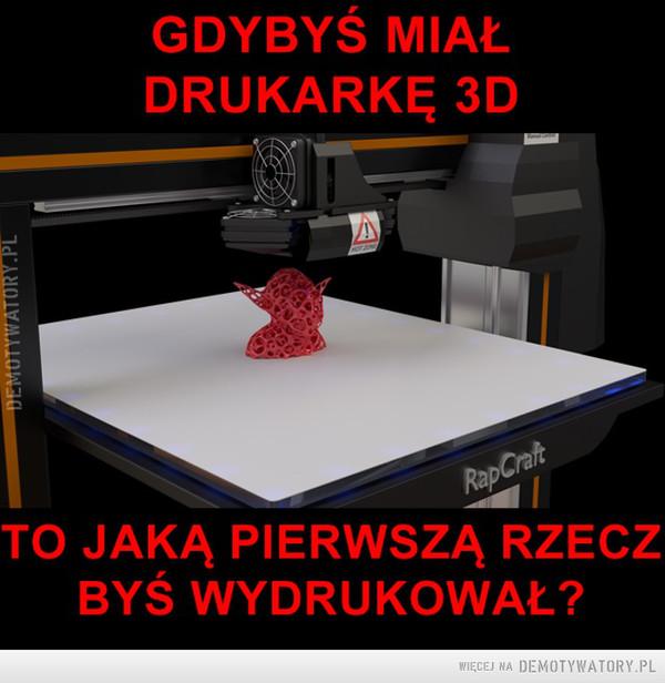Gdybyś miał drukarkę 3d –