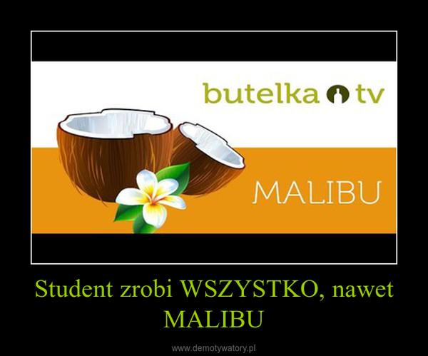 Student zrobi WSZYSTKO, nawet MALIBU –