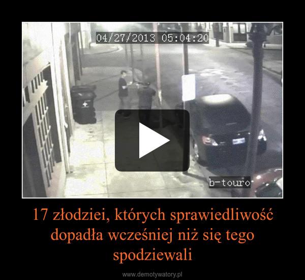 17 złodziei, których sprawiedliwość dopadła wcześniej niż się tego spodziewali –