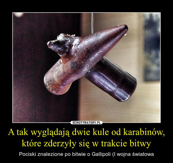 A tak wyglądają dwie kule od karabinów, które zderzyły się w trakcie bitwy – Pociski znalezione po bitwie o Gallipoli (I wojna światowa