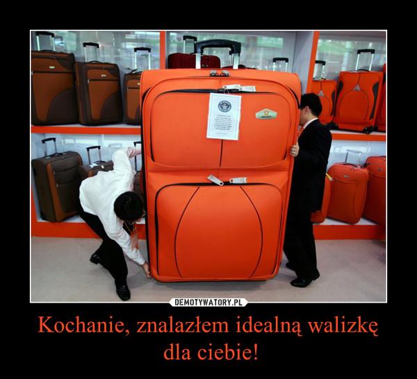 Kochanie, znalazłem idealną walizkę dla ciebie! –