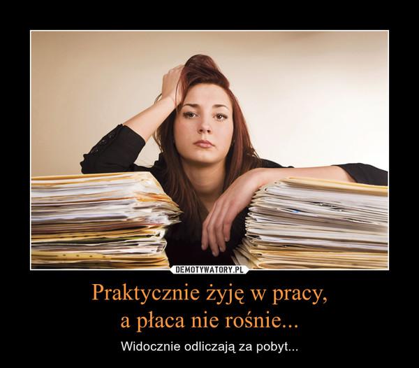 Praktycznie żyję w pracy,a płaca nie rośnie... – Widocznie odliczają za pobyt...