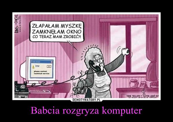 Babcia rozgryza komputer –