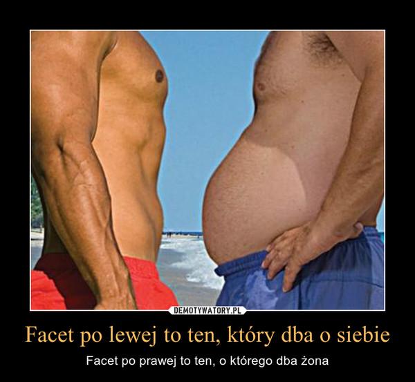 Facet po lewej to ten, który dba o siebie – Facet po prawej to ten, o którego dba żona