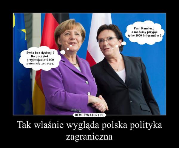 Tak właśnie wygląda polska polityka zagraniczna –