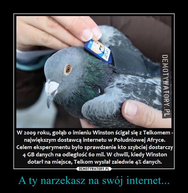 A ty narzekasz na swój internet... –