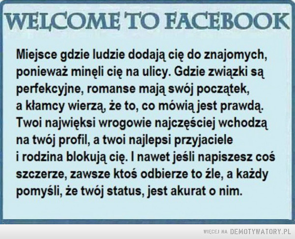 Witamy na Facebooku! –