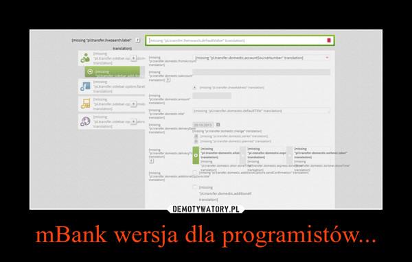 mBank wersja dla programistów... –