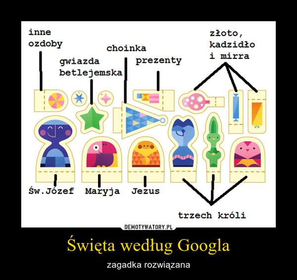 Święta według Googla – zagadka rozwiązana