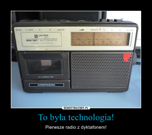 To była technologia! – Pierwsze radio z dyktafonem!