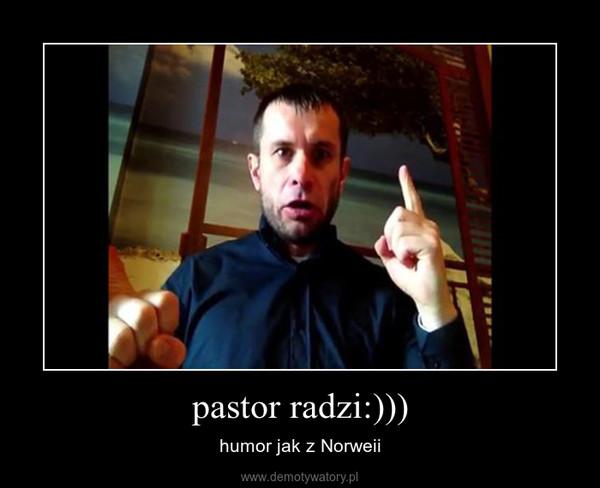 pastor radzi:))) – humor jak z Norweii