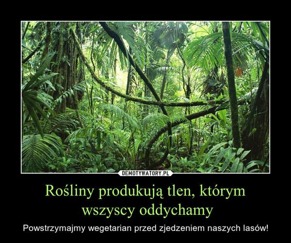 Rośliny produkują tlen, którym wszyscy oddychamy – Powstrzymajmy wegetarian przed zjedzeniem naszych lasów!