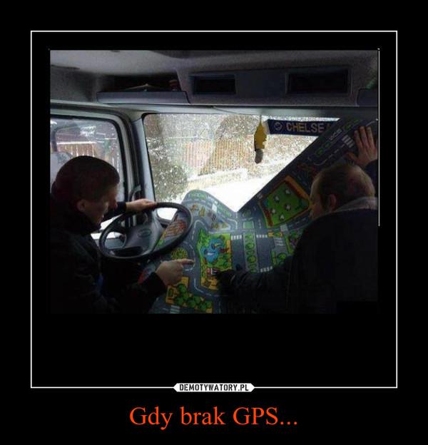 Gdy brak GPS... –