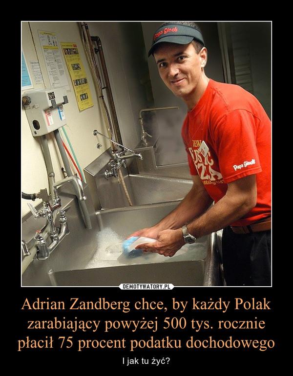Adrian Zandberg chce, by każdy Polak zarabiający powyżej 500 tys. rocznie płacił 75 procent podatku dochodowego – I jak tu żyć?