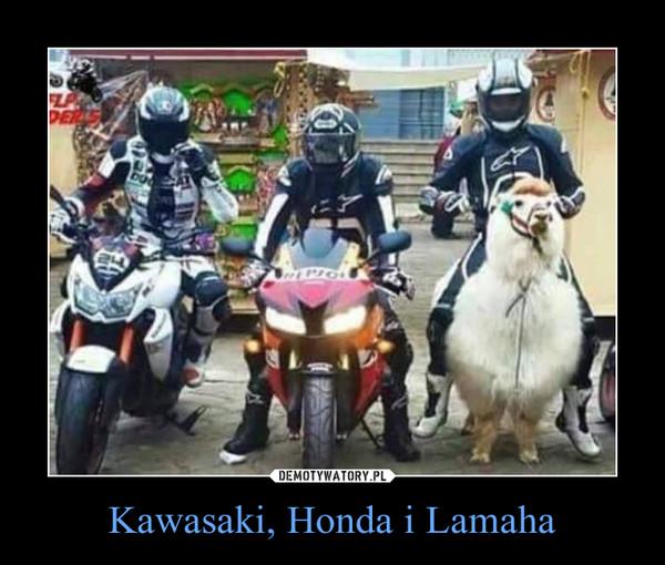 Kawasaki, Honda i Lamaha –