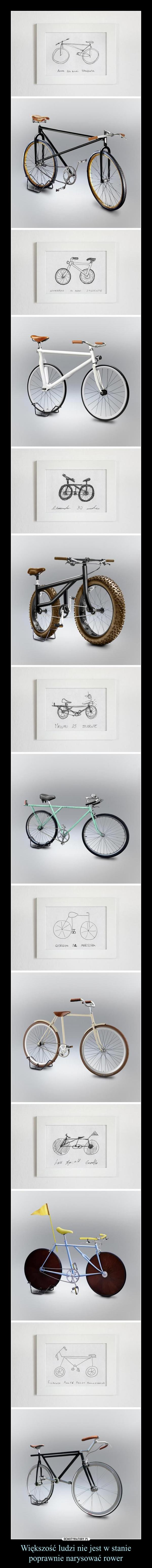 Większość ludzi nie jest w stanie poprawnie narysować rower –