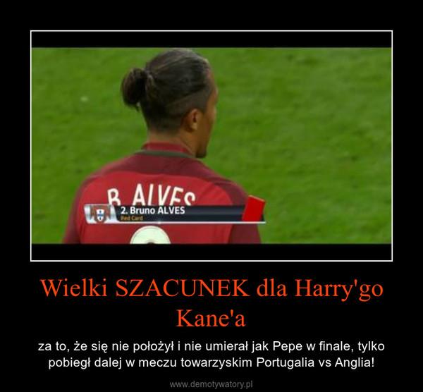 Wielki SZACUNEK dla Harry'go Kane'a – za to, że się nie położył i nie umierał jak Pepe w finale, tylko pobiegł dalej w meczu towarzyskim Portugalia vs Anglia!