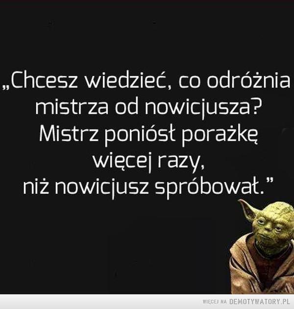 Lekcja od Yody –