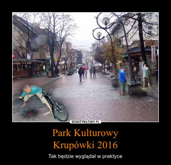 Park KulturowyKrupówki 2016 – Tak będzie wyglądał w praktyce