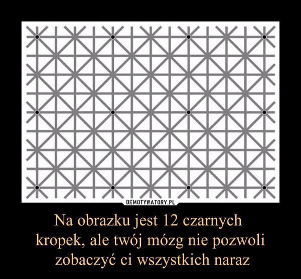 Na obrazku jest 12 czarnych kropek, ale twój mózg nie pozwoli zobaczyć ci wszystkich naraz –