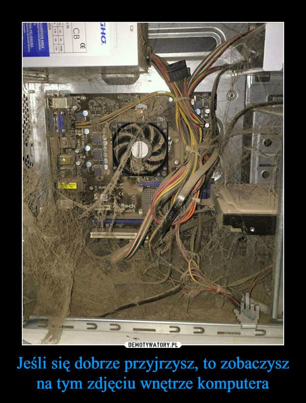 Jeśli się dobrze przyjrzysz, to zobaczysz na tym zdjęciu wnętrze komputera –
