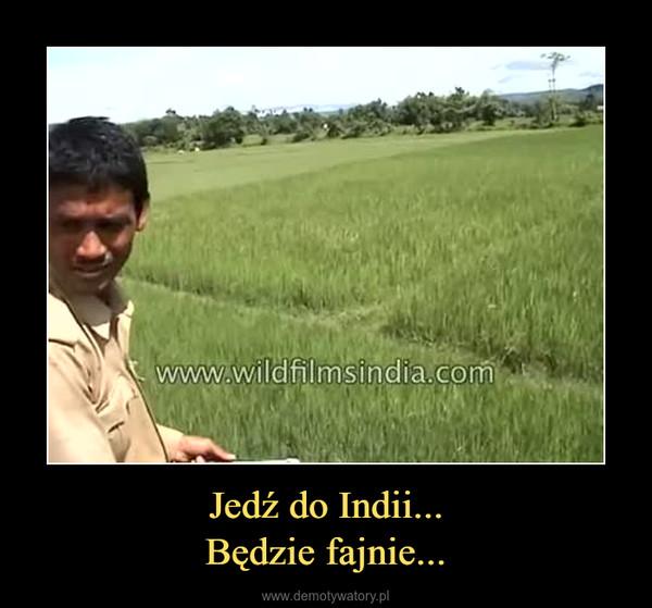 Jedź do Indii...Będzie fajnie... –