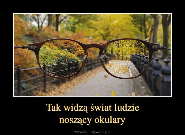 Tak widzą świat ludzienoszący okulary –
